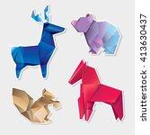 abstract geometric polygonal... | Shutterstock .eps vector #413630437