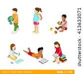 children education learning... | Shutterstock .eps vector #413633071