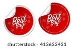 best buy stickers | Shutterstock .eps vector #413633431