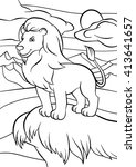 coloring pages. animals. cute... | Shutterstock .eps vector #413641657