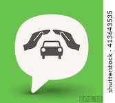 pictograph of car | Shutterstock .eps vector #413643535