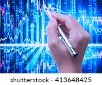 stock market background | Shutterstock . vector #413648425