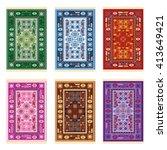carpets   oriental pattern  ... | Shutterstock .eps vector #413649421