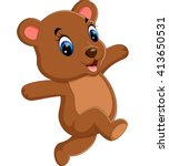 illustration of cute baby bear... | Shutterstock . vector #413650531