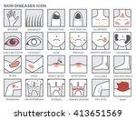 skin wound diseases vector ... | Shutterstock .eps vector #413651569