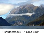 Tall Ship In Milford Sound Wit...
