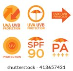 uv logo and icon sets spf... | Shutterstock .eps vector #413657431