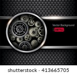 background 3d with technology... | Shutterstock .eps vector #413665705