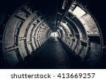 Dark Tunnel With Interesting...