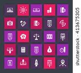 25 finance icons  investing ... | Shutterstock .eps vector #413675305