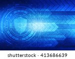 protection concept  pixelated... | Shutterstock . vector #413686639