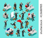 businessman isometric people... | Shutterstock . vector #413688985