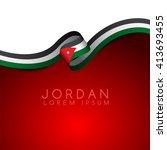 jordan flag ribbon   vector...