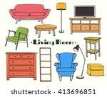 vector illustration of living... | Shutterstock .eps vector #413696851