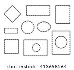 set frames .vintage vector.well ... | Shutterstock .eps vector #413698564