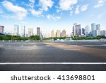 asphalt road and modern city | Shutterstock . vector #413698801
