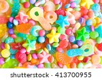 assorted colorful candies | Shutterstock . vector #413700955