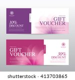 gift voucher template for spa ... | Shutterstock .eps vector #413703865
