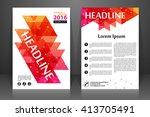 abstract vector modern flyers... | Shutterstock .eps vector #413705491