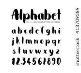 hand drawn vector alphabet ... | Shutterstock .eps vector #413709289