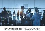 analysis statistic information... | Shutterstock . vector #413709784