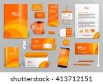 orange luxury branding design...   Shutterstock .eps vector #413712151