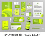 lime luxury branding design kit.... | Shutterstock .eps vector #413712154