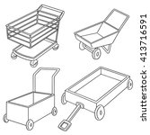 vector set of cart | Shutterstock .eps vector #413716591