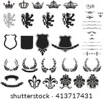 collection of heraldic... | Shutterstock .eps vector #413717431