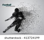 silhouette of a football player ... | Shutterstock .eps vector #413724199