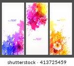 fantasy watercolor vector... | Shutterstock .eps vector #413725459