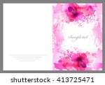 fantasy pink vector background... | Shutterstock .eps vector #413725471