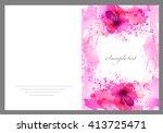 fantasy pink vector background... | Shutterstock .eps vector #413725471