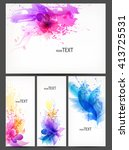 fantasy watercolor vector... | Shutterstock .eps vector #413725531