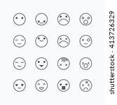 emoji avatar collection set ... | Shutterstock .eps vector #413726329