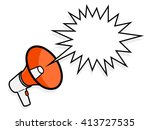 cartoon colorful red megaphone... | Shutterstock .eps vector #413727535