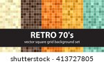 retro 70's. abstract square... | Shutterstock .eps vector #413727805