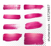 vector pink watercolor brush... | Shutterstock .eps vector #413729857
