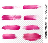 vector pink watercolor brush... | Shutterstock .eps vector #413729869