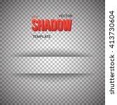 illustration of vector shadow... | Shutterstock .eps vector #413730604