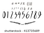 hand drawn calligraphy numbers... | Shutterstock .eps vector #413735689