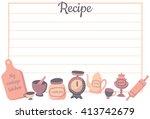 vector template of recipe card  ...   Shutterstock .eps vector #413742679