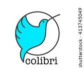 colibri logo. bird symbol...   Shutterstock .eps vector #413745049