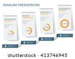 banner steps business... | Shutterstock .eps vector #413746945