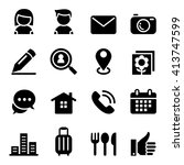 contact icon set | Shutterstock .eps vector #413747599