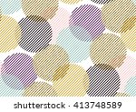 vector seamless pattern with... | Shutterstock .eps vector #413748589