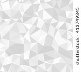 gray polygonal mosaic paper... | Shutterstock .eps vector #413749345