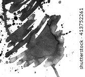 black abstract watercolor macro ... | Shutterstock . vector #413752261