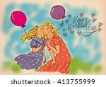 Illustration Super Mother With...
