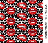 Lips Seamless Pattern....